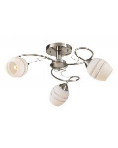 Żyrandol Lampa sufitowa Beja 3x E27 Metal i szkło Lampex Styl klasyczny