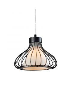 Lampa wisząca Kenia A 1xE27 Metal i szkło Lampex druciana styl loft industrial