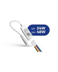 KONTROLER sterownik do taśm LED WiFi TUYA 12/24V DC 24W 48W RGBW+CCT Ściemnialny SPECTRUM