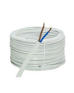 Przewód Mieszkaniowy Płaski Kabel OMYp 2x0,5mm LINKA BIAŁY 10m