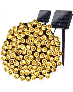 2x GIRLANDA SOLARNA ogrodowa ozdobna SHINE 100 LED 3000K ciepła