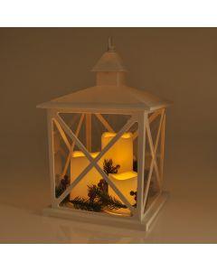 LATARENKA LED na baterie 3xAAA + 3x świeca biała POLUX