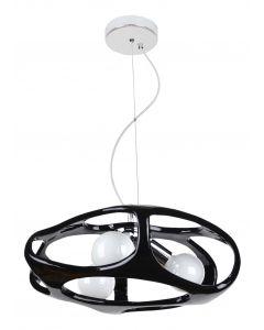 Lampa wisząca Amano Czarna 3x E27 Metal i PCV Lampex Styl nowoczesny