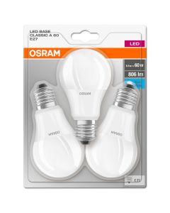 Żarówka LED E27 8,5W = 60W A60 806lm 4000K OSRAM BASE Blister 3PAK