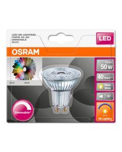 Żarówka LED GU10 6,1W = 50W 350lm 2700K Ciepła 36° CRI90 OSRAM Ściemnialna