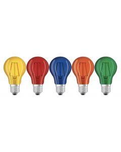 5PAK Żarówka LED E27 A60 2W 235lm 2700K Ciepła 300° Filament OSRAM Star Mix Kolorów