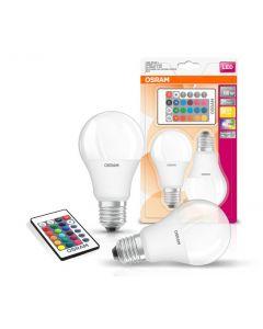 Żarówki LED Retrofit 9W E27 RGB+W Osram - Blister 2szt + Pilot 2szt
