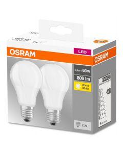 Żarówka LED E27 8,5W = 60W A60 806lm 2700K OSRAM BASE 2PAK