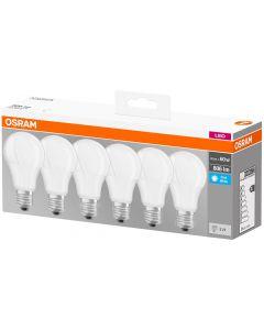 Żarówka LED E27 8,5W = 60W A60 806lm OSRAM BASE 4000K 6-PAK