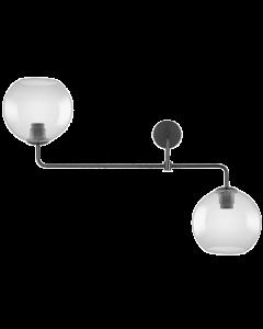 Lampa Sufitowa Szklana VINTAGE 1906 GLOBE DOUBLE 20cm SMOKE-GREY Przydymiona LEDVANCE