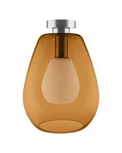 Lampa Sufitowa Szklana VINTAGE 1906 CONE ORANGE Pomarańczowa LEDVANCE