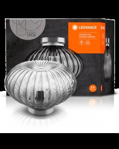 Lampa Sufitowa Szklana VINTAGE 1906 CARVED PUMPKIN Dynia Przydymiona LEDVANCE