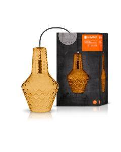 Lampa Wisząca Sufitowa Szklana VINTAGE 1906 CARVED PENDANT BOTTLE Orange Ledvance