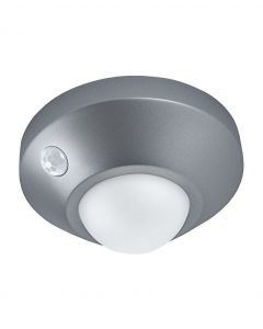 Lampka nocna LED Nightlux Ceiling Srebrna 1,70W 105lm 4000K IP20 Ledvance Czujnik ruchu
