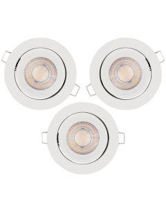 Zestaw 3x Oprawa Sufitowa Halogenowa LED Spot Oczko 3x 5W 2700K LEDVANCE biała