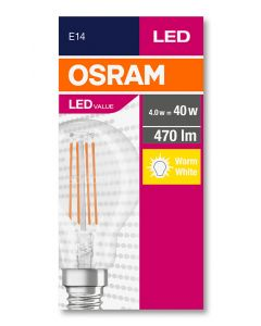 Żarówka LED Filament KULKA E14 4W = 40W 470lm 2700K ciepła OSRAM