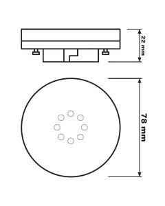 Żarówka LED GX53 AR111 6W = 40W 470lm 4000K Neutralna 120° OSRAM