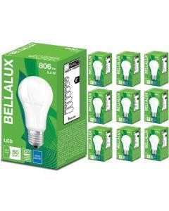 Zestaw 10x Żarówka LED A60 E27 8,5W = 60W 806lm Neutralna 4000K BELLALUX