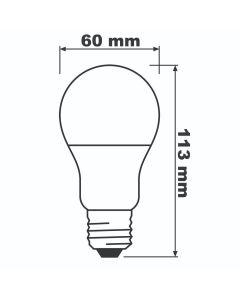 Zestaw 6x Żarówka LED A60 E27 8,5W = 60W 806lm Ciepła 2700K BELLALUX