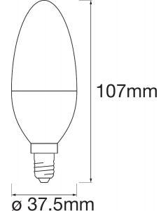 3PAK Żarówka LED E14 B35 5W 470lm CCT RGB LEDVANCE SMART+ WiFi  Ściemnialna