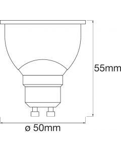 3-PAK Żarówka LED GU10 HALOGEN 5W 350lm Ciepła-Zimna + RGB Ściemnialna SMART+ WiFi LEDVANCE