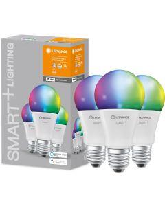 3-PAK Żarówka LED E27 A60 9W 806lm Ciepła-Zimna + RGB Ściemnialna SMART+ WiFi LEDVANCE