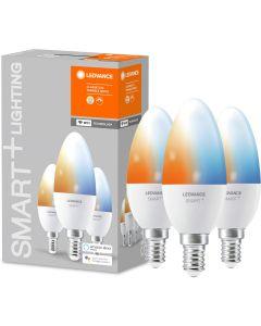 3-PAK Żarówka LED E14 ŚWIECZKA 5W 470lm Ciepła-Zimna Ściemnialna SMART+ WiFi LEDVANCE