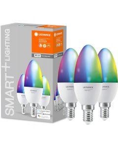 3-PAK Żarówka LED E14 ŚWIECZKA 5W 470lm Ciepła-Zimna + RGB Ściemnialna SMART+ WiFi LEDVANCE