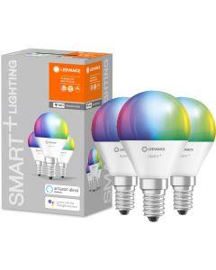3-PAK Żarówka LED E14 KULKA 5W 470lm Ciepła-Zimna + RGB Ściemnialna SMART+ WiFi LEDVANCE