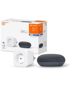Inteligentne Gniazdko Sterowane SMART+ Bluetooth LEDVANCE + Głośnik Google Home Mini Szary