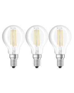 6x Żarówka LED E14 P45 4W = 40W 470lm 4000K Neutralna 320° Filament OSRAM