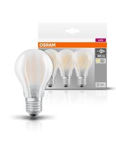 Żarówka LED E27 7W = 60W A60 806lm 2700K Filament OSRAM base 3pak