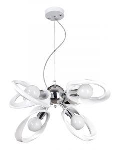 Lampa wisząca Żyrandol Emma 6 Biały 6x E27 Metal i PCV Lampex Styl nowoczesny