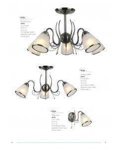 Żyrandol Lampa sufitowa Goja 5x E14 Metal i szkło Lampex Styl klasyczny