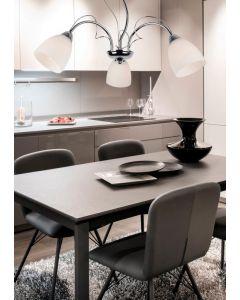Żyrandol Lampa sufitowa Lima 3x E14 Metal i szkło Lampex Styl klasyczny