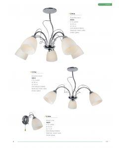 Żyrandol Lampa sufitowa Lima 5x E14 Metal i szkło Lampex Styl klasyczny