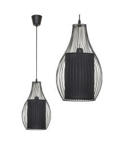 Lampa wisząca NOWODVORSKI E27 Druciana Loft 4610 CAMILLA Czarna Stal Śr. 26 cm