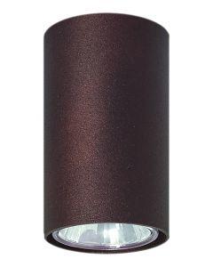 Lampa Oprawa sufitowa halogenowa Simba wenge tuba spot 1x GU10 Metal Lampex