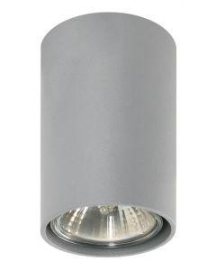 Lampa Oprawa sufitowa halogenowa Simba Popiel Tuba Spot 1x GU10 Metal Lampex
