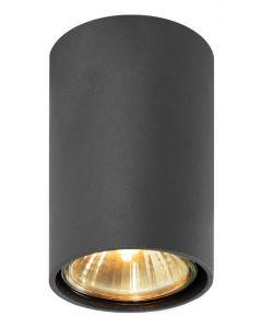 Lampa Oprawa sufitowa halogenowa Simba Czarna Tuba Spot 1x GU10 Metal Lampex