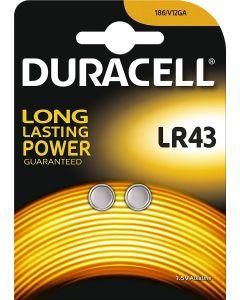 Baterie alkaliczne guzikowe DURACELL LR43 V12GA 1,5V Blister 2szt.