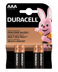 Baterie Alkaliczne Duracell Basic AAA LR03 Blister 4szt