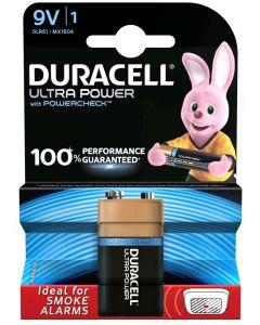 Baterie Alkaliczne Duracell ULTRA 6LR61 MX1604 E-BLOCK 9V Blister 1szt
