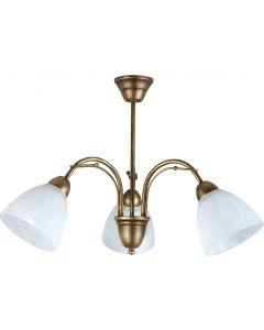 Żyrandol lampa wisząca sufitowa Klara 3x E27 Metal i szkło Lampex styl klasyczny