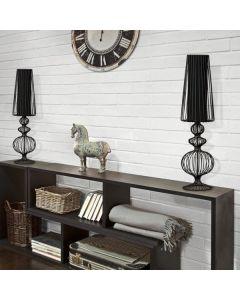 Lampa stołowa NOWODVORSKI E27 Druciana Retro 5126 AVEIRO Czarna Stal
