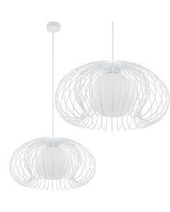 Lampa wisząca NOWODVORSKI GU10 Druciana Retro 5295 MERSEY Biała Stal Śr. 44 cm