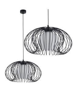 Lampa wisząca NOWODVORSKI GU10 Druciana Retro 5296 MERSEY Czarna Stal Śr. 44 cm