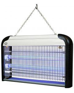 Lampa Owadobójcza Wisząca 38W 80m2 CZARNO - SREBRNA IK02