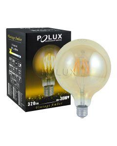 Żarówka FILAMENT LED G80 E27 4W = 18W 320lm POLUX 2000K CIEPŁA