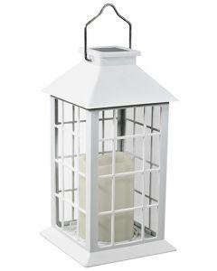 Lampa Ogrodowa LED Solarna Wisząca LATARENKA 27cm Biała Polux